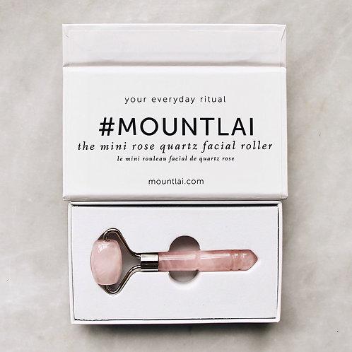 De-Puffing Mini Rose Quartz Roller