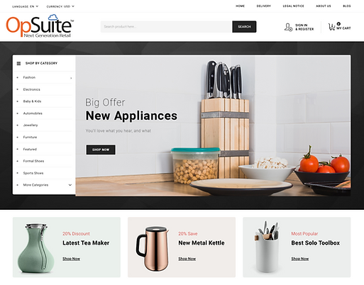 OpSuite ECommerce Cooking