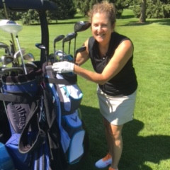 Glorious golfing with new clubs!