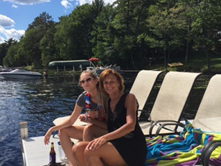 Sammy and Mertie at Summit Lake on 4th of July.