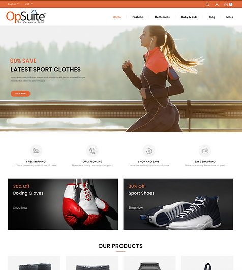 OpSuite ECommerce Sporting Goods