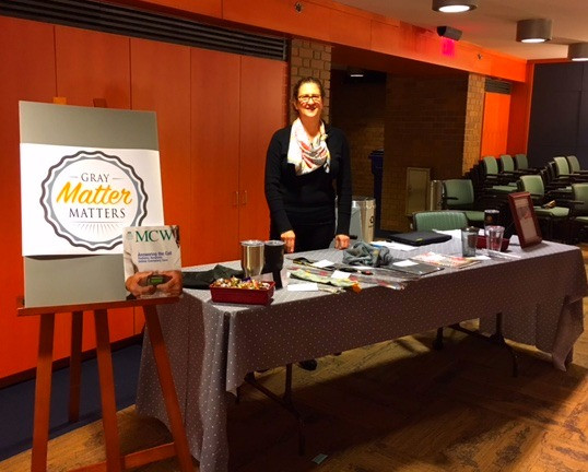 At the Medical College of Wisconsin's Seminar on endocannabinois, I was honored to take part in my first attempt at being a vendor.  Dr. Cecilia Hillard was so kind to allow me to invite myself to the event.  Her colleague Wesley made sure that all of my needs were met.  I was surprised to be sitting in the same room as the presentations, and I did learn a lot about brain receptors and studies on mice.  If you ever want too feel like you know nothing, attend a professional seminar for a career that is different than your own.  Wesley made sure that I had breakfast and lunch along with getting my technical stuff set up.  The day was successful since I was able to use the card reader with my phone and sell lots of products along with introducing my company.  A big thank you to Dr. Hillard and Wesley!