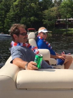 July 4th boat ride on Summit Lake with Roeker families.