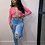 """Thumbnail: """"Over It"""" Lace Up Crop Top"""