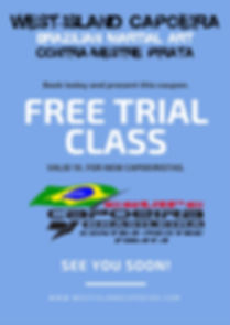 Free trial class coupon.