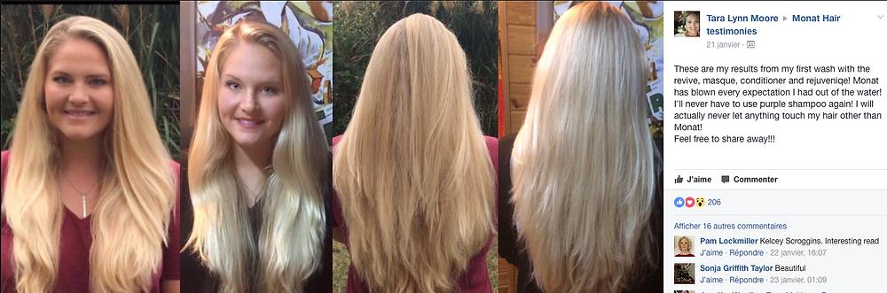 avant-après, plus beau blond avec MONAT