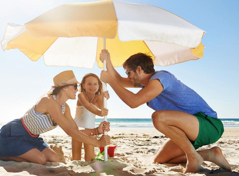Protection solaire pour cheveux