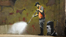 When Banksy turned a neglected hell hole into an oasis of beautiful art