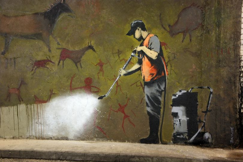 Banksy's Cave Painting was at the heart of the 'Cans Festival' exhibition (Image: ©Michael Greenwood)