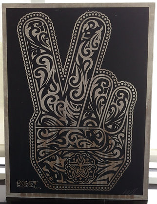 PEACE FINGERS (METAL AP) / SHEPARD FAIREY