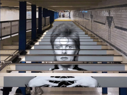 David Bowie Takes Over New York's Subway