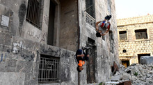 Parkour Amid War Ruins