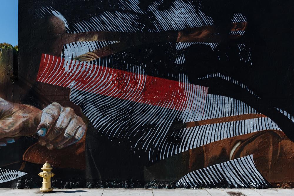 case 2Alas, miami, street art inspired on Michelangelo Merisi da Caravaggio