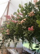 suspended marquee flowers