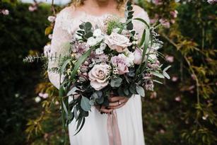 Rustic natural bridal bouquet