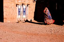 Woman in traditional robe, Sana'ani