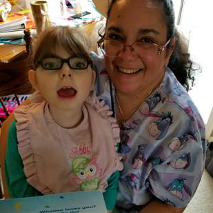 Nurse Jeannette and Patient Abby