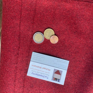 Wolle Loden rot meliert 35€ WWL RM 0019