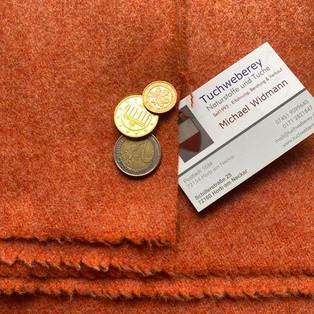 Wolle Loden rot meliert 32€ WWL R 0012