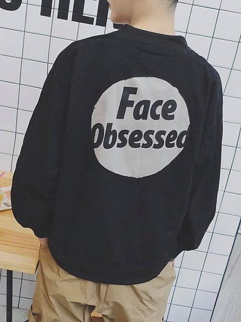 เสื้อแจ็คเก็ตวอมคอจีน สกีนลายหลวงพ่อกับลาย Face obsese