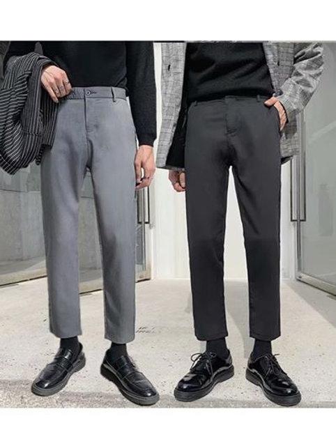 새로운 컬렉션Version 5 With กางเกงขาเต่อทรงขากระบอกเล็กฮอทสไอเท็มไตล์หนุ่มเกาหลี