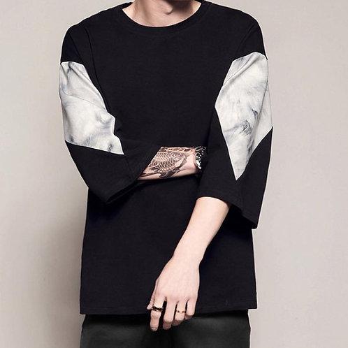 New in 2020 เสื้อยืดแขนสามส่วนสกีนลาย I KNOW WHAT I NEED ต่อแขนเสื้อด้วยลายหิน