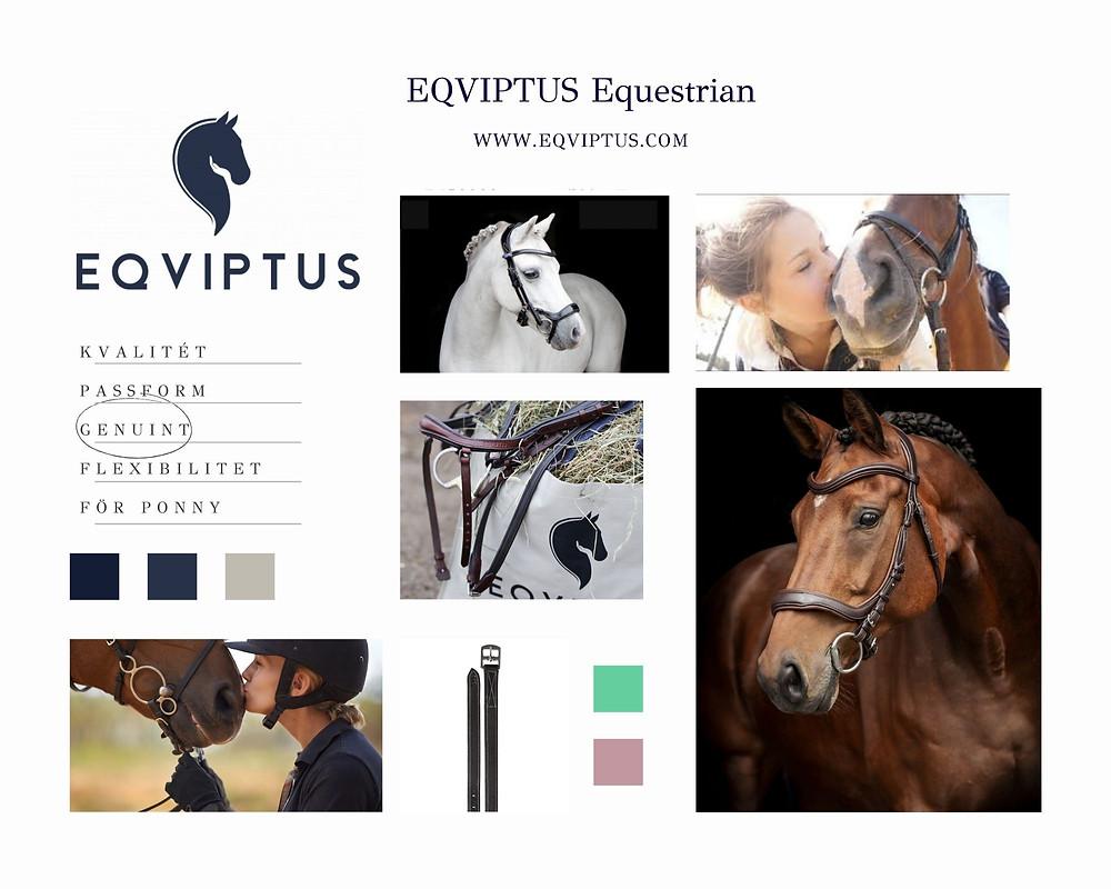En moodboard med bilder på hästar