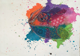 Colourful Chamelion 54 x 77 cm .jpg