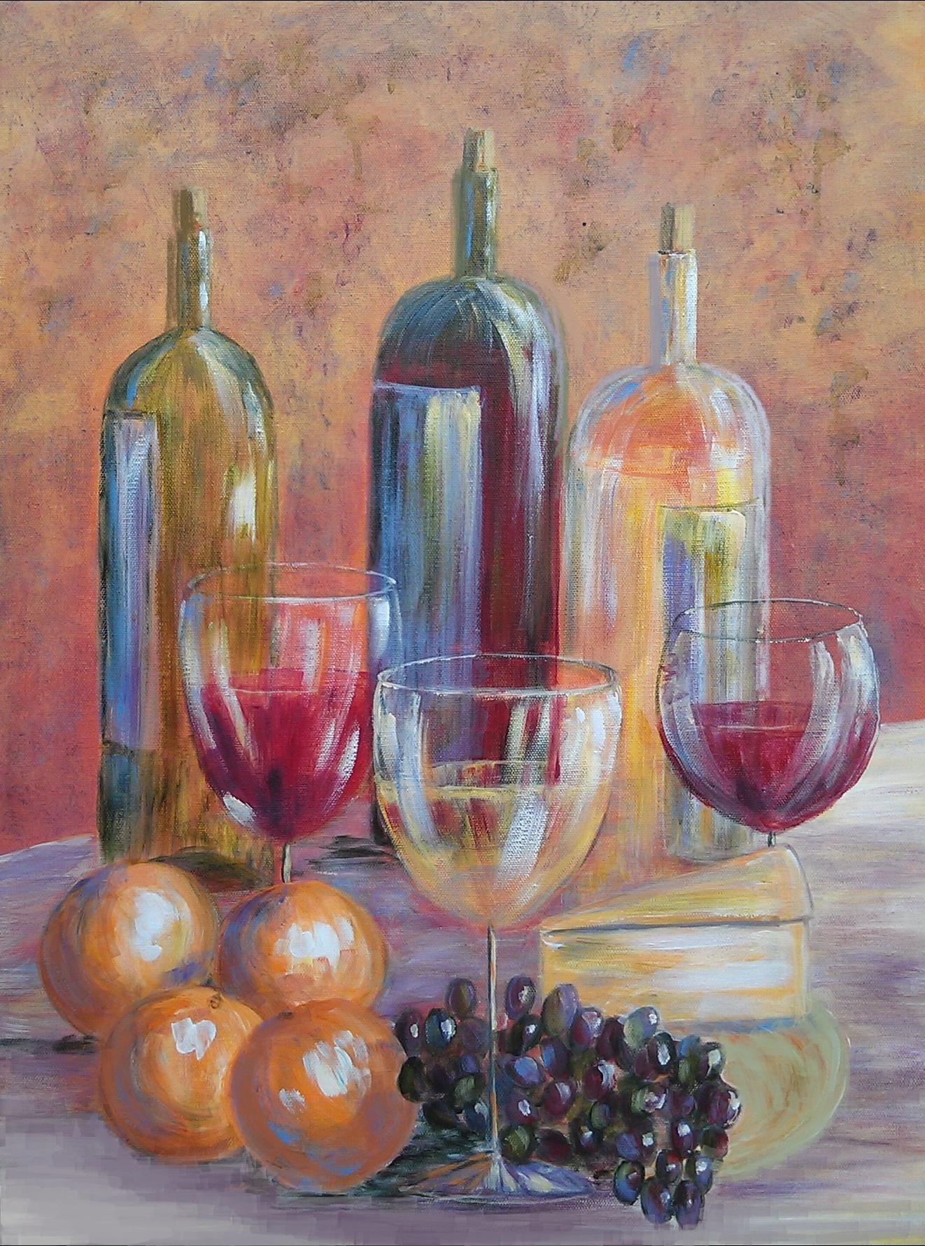 Wine Still life - Sold