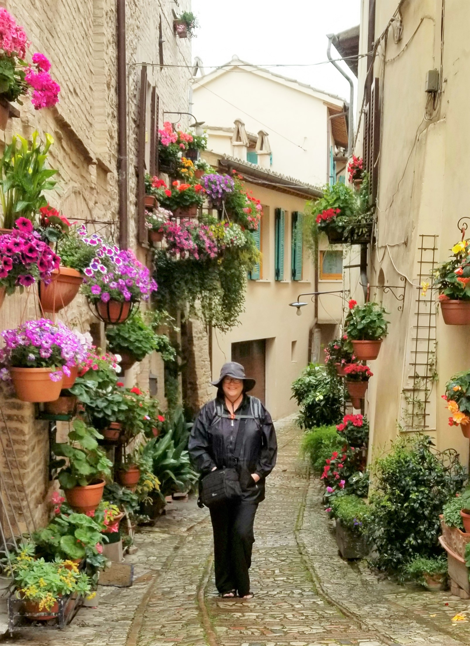 Spello, Italy in the rain