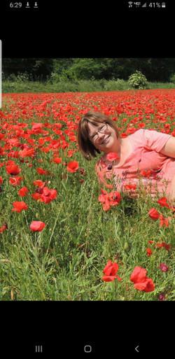 Poppy field in Provence, France