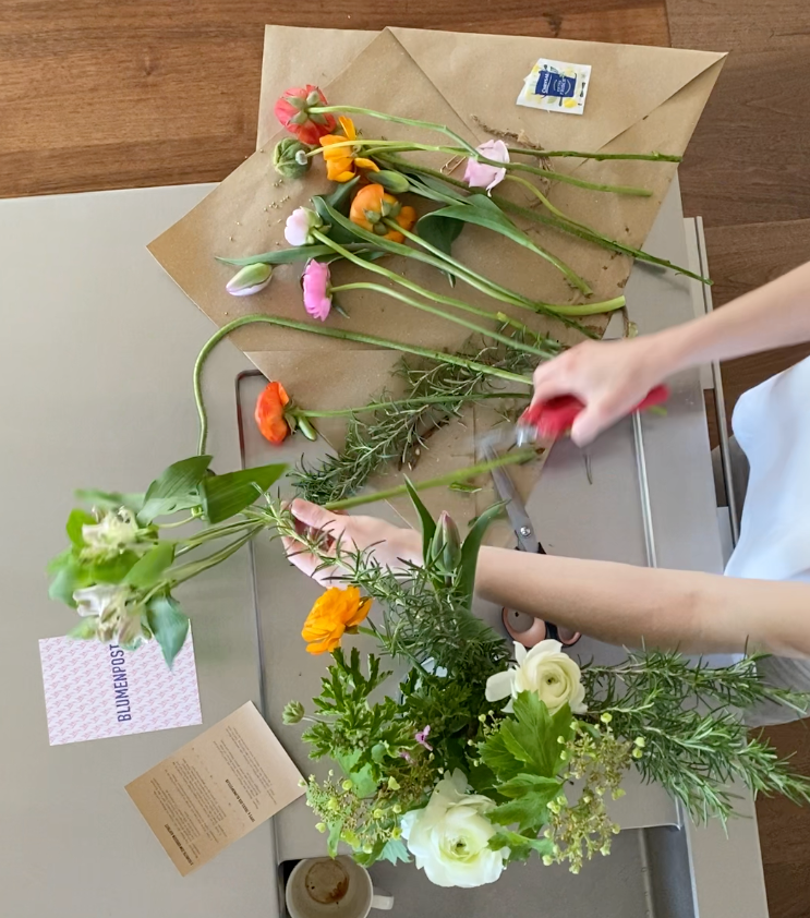 Blumen arrangieren Blumenschere Pflegetipps für Schnittblumen Blumenpflege Blumenvase Blumentipps Pflege für Blumen frische Blumen