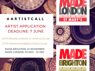 Calling All Makers: Apply NOW for Made London and Made Brighton Fairs