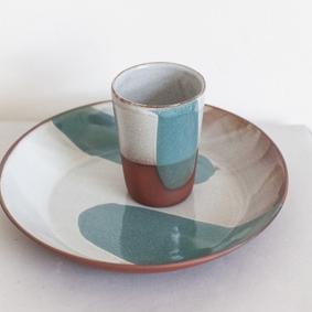 Large Bowl and Ceramic Mug - Silvia K
