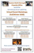 Queens North Parent Workshops Flyer (Eng