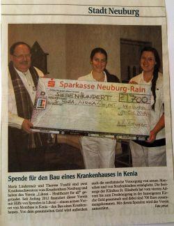 Januar 2014 Neuburger Zeitung