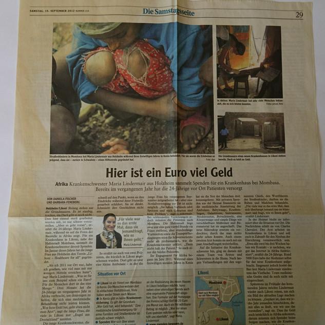 September 2012 Donauwörther Zeitung