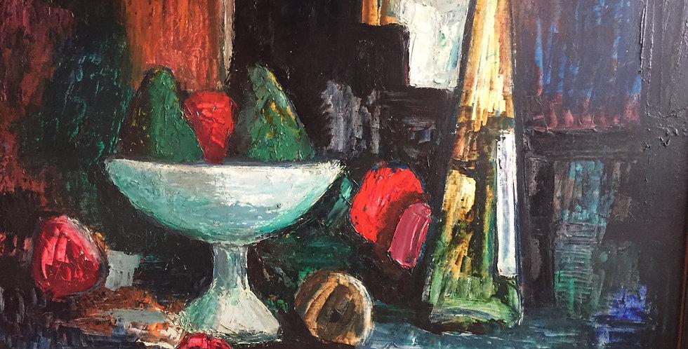1956 British Mid Century Oil  Painting