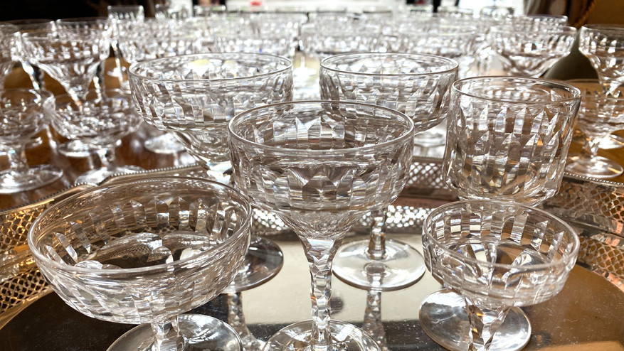 Collection Stunning Country House Glasses Circa 1920