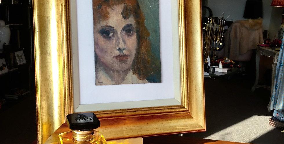 Soho Landlady  Oil Painting by Richard Lally 1965