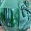 Thumbnail: Art Deco Malachite Glass Vase