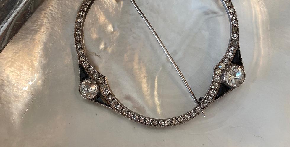 Silver ,Paste &Enamel Period Brooch