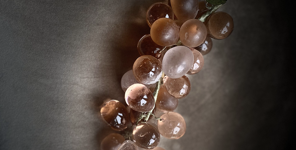 French Antique Glass Grapes