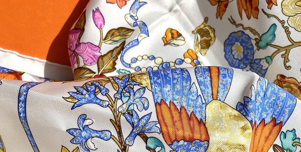 Vintage Hermes Silk Scarf 90x90cm