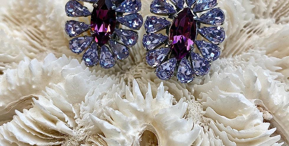Vintage Alexandrite Crystal Earrings