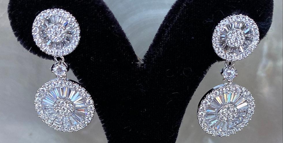 Silver Crystal Earrings