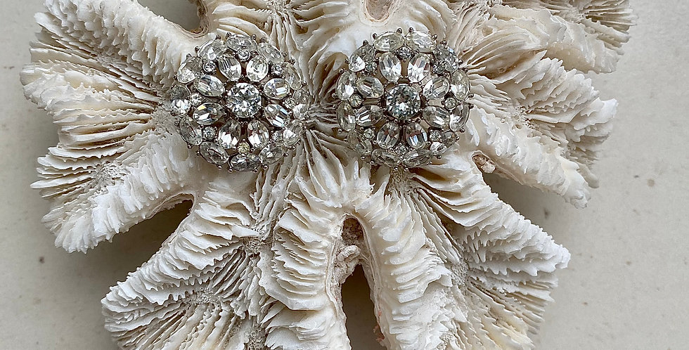 Vintage Trifari Rhinestone Earrings