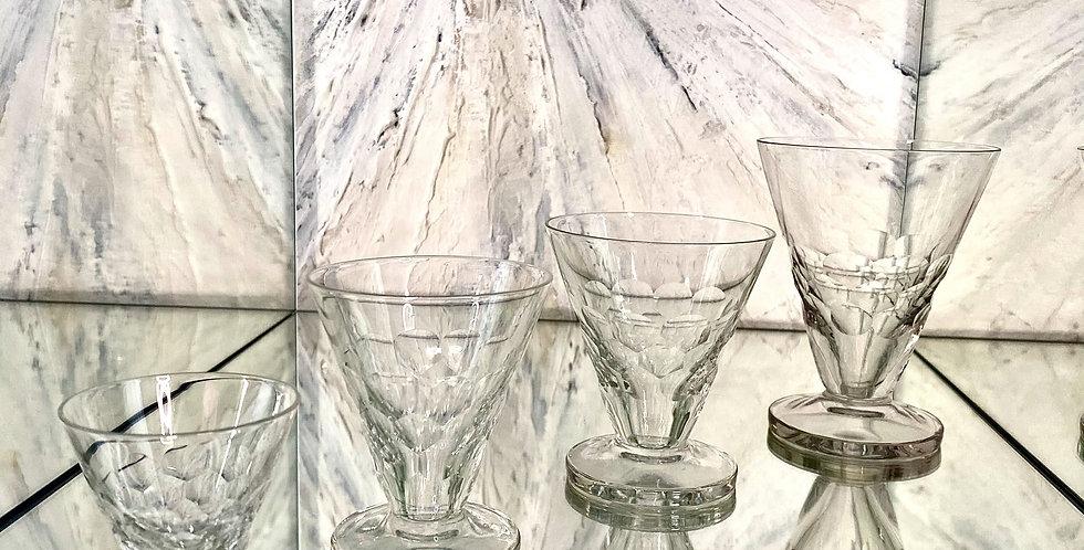 Art Deco Suite of Glasses