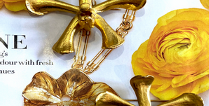 24 carat gold plated Singapore Orchid Brooches
