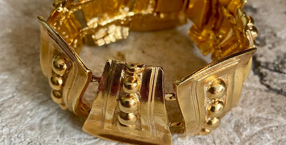 Vintage Gold Plated Chunky Bracelet.